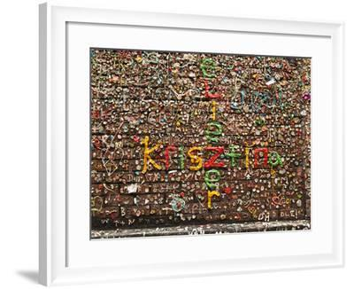 Gum Wall at Pike's Place Market in Seattle, Washington, Usa-Michele Westmorland-Framed Photographic Print