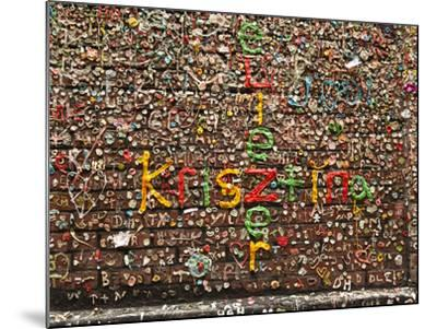 Gum Wall at Pike's Place Market in Seattle, Washington, Usa-Michele Westmorland-Mounted Photographic Print