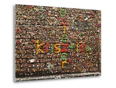 Gum Wall at Pike's Place Market in Seattle, Washington, Usa-Michele Westmorland-Metal Print