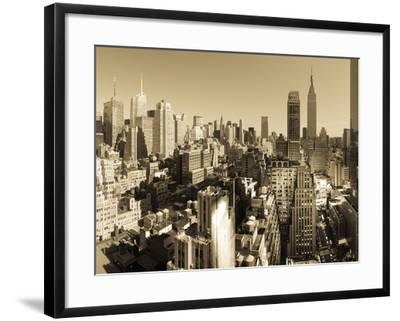 USA, New York, Manhattan, Midtown Skyline Including Empire State Building-Alan Copson-Framed Photographic Print