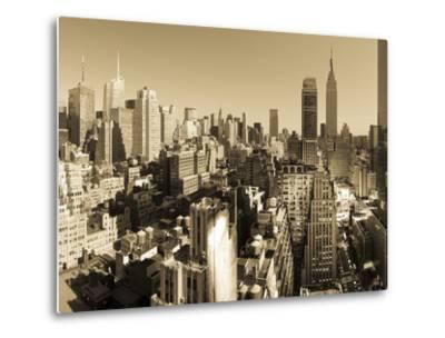 USA, New York, Manhattan, Midtown Skyline Including Empire State Building-Alan Copson-Metal Print