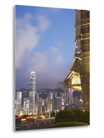 View of Hong Kong Island Skyline from Icc, Hong Kong, China-Ian Trower-Metal Print