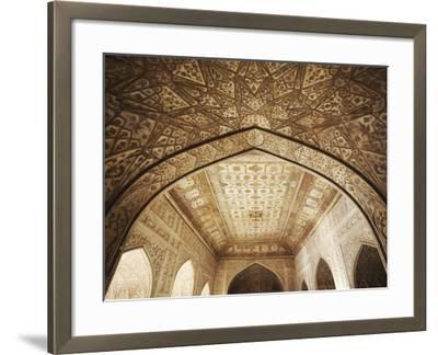 Ceiling of Khas Mahal in Agra Fort, Agra, Uttar Pradesh, India-Ian Trower-Framed Photographic Print