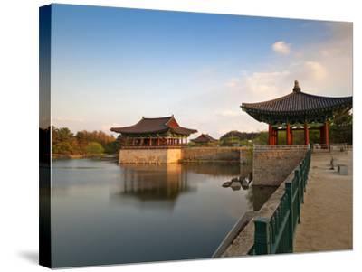 Korea, Gyeongsangbuk-Do, Gyeongju, Anapji Pond-Jane Sweeney-Stretched Canvas Print