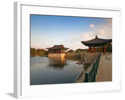Korea, Gyeongsangbuk-Do, Gyeongju, Anapji Pond-Jane Sweeney-Framed Photographic Print