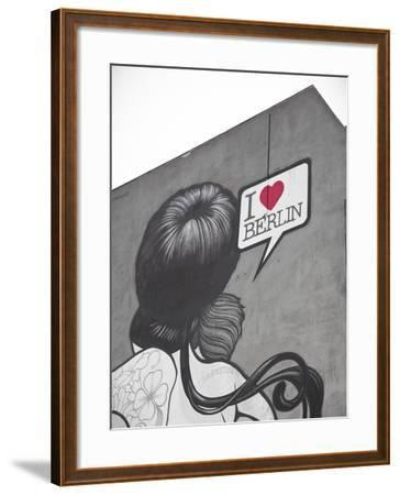 I Love Berlin' Mural on Building, Berlin, Germany-Jon Arnold-Framed Photographic Print