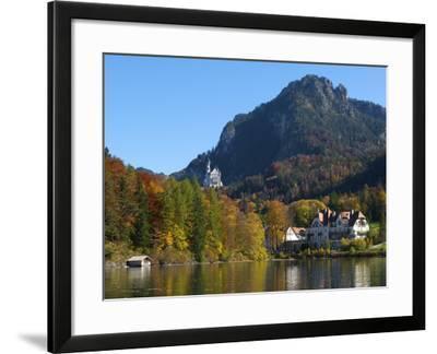 Neuschwanstein Castle Ans Lake Alpsee, Allgaeu, Bavaria, Germany-Katja Kreder-Framed Photographic Print