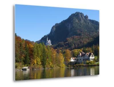 Neuschwanstein Castle Ans Lake Alpsee, Allgaeu, Bavaria, Germany-Katja Kreder-Metal Print