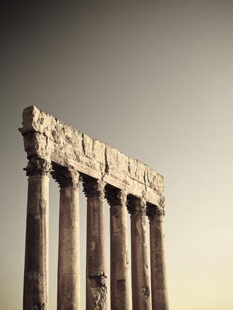 Lebanon, Baalbek, Temple of Jupiter-Michele Falzone-Framed Photographic Print