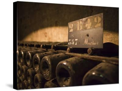 France, Marne, Champagne Ardenne, Reims, Pommery Champagne Winery, Champagne Cellars-Walter Bibikow-Stretched Canvas Print