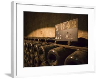 France, Marne, Champagne Ardenne, Reims, Pommery Champagne Winery, Champagne Cellars-Walter Bibikow-Framed Photographic Print