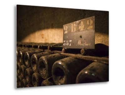 France, Marne, Champagne Ardenne, Reims, Pommery Champagne Winery, Champagne Cellars-Walter Bibikow-Metal Print