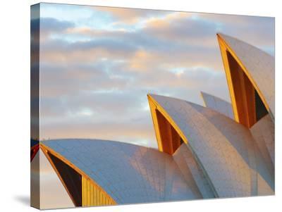 Australia, New South Wales, Sydney, Sydney Opera House, Close-Up at Sunrise-Shaun Egan-Stretched Canvas Print