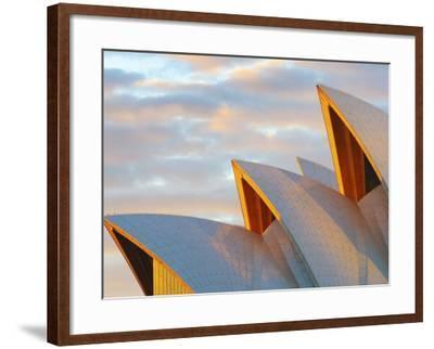 Australia, New South Wales, Sydney, Sydney Opera House, Close-Up at Sunrise-Shaun Egan-Framed Photographic Print