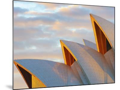 Australia, New South Wales, Sydney, Sydney Opera House, Close-Up at Sunrise-Shaun Egan-Mounted Photographic Print