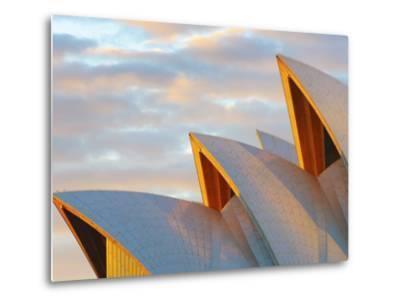 Australia, New South Wales, Sydney, Sydney Opera House, Close-Up at Sunrise-Shaun Egan-Metal Print