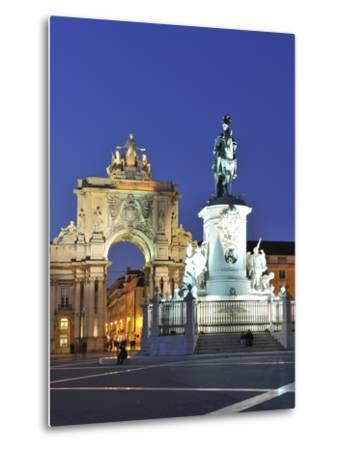 Terreiro Do Paco at Twilight, One of the Centers of the Historical City, Lisbon, Portugal-Mauricio Abreu-Metal Print