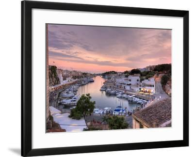 Spain, Balearic Islands, Menorca, Ciutadella, Historic Old Harbour and Old City Centre-Michele Falzone-Framed Photographic Print