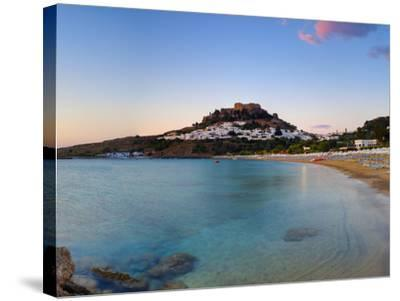 Lindos Acropolis and Village, Lindos, Rhodes, Greece-Doug Pearson-Stretched Canvas Print