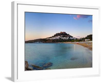 Lindos Acropolis and Village, Lindos, Rhodes, Greece-Doug Pearson-Framed Photographic Print