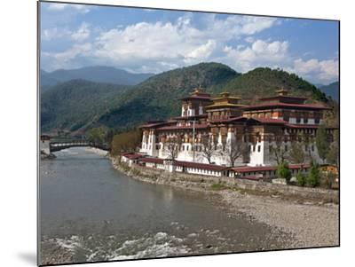 The 17th Century Punakha Dzong (The Palace of Great Happiness), Second Oldest and Second Largest Dz-Nigel Pavitt-Mounted Photographic Print