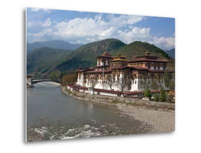 The 17th Century Punakha Dzong (The Palace of Great Happiness), Second Oldest and Second Largest Dz-Nigel Pavitt-Metal Print
