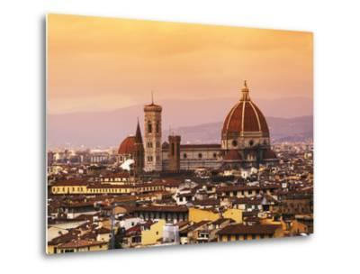 Italy, Florence, Tuscany, Western Europe, 'Duomo' Designed by Famed Italian Architect Brunelleschi,-Ken Scicluna-Metal Print