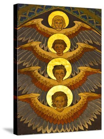 Poland, Cracow, Extraordinary Art Nouveau Decoration in the Franciscan Church, Designed by Stanisla-Katie Garrod-Stretched Canvas Print