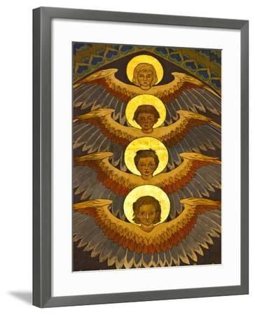Poland, Cracow, Extraordinary Art Nouveau Decoration in the Franciscan Church, Designed by Stanisla-Katie Garrod-Framed Photographic Print