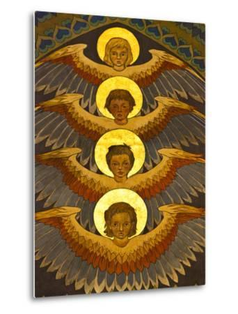 Poland, Cracow, Extraordinary Art Nouveau Decoration in the Franciscan Church, Designed by Stanisla-Katie Garrod-Metal Print