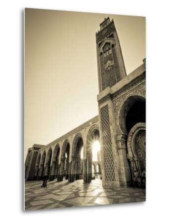 Morocco, Casablanca, Mosque of Hassan II-Michele Falzone-Metal Print