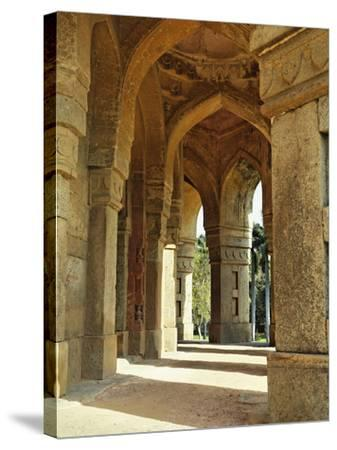 Columns on Tomb of Mohammed Shah, Lodhi Gardens, New Delhi, India-Adam Jones-Stretched Canvas Print