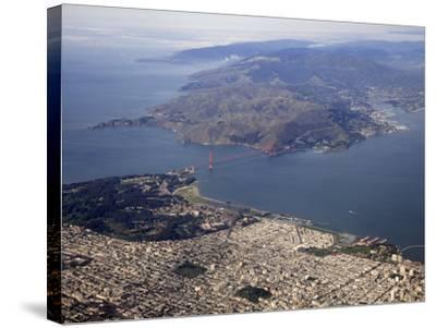 Golden Gate Bridge, San Francisco North to Marin Headlands, California, USA-Marli Miller-Stretched Canvas Print