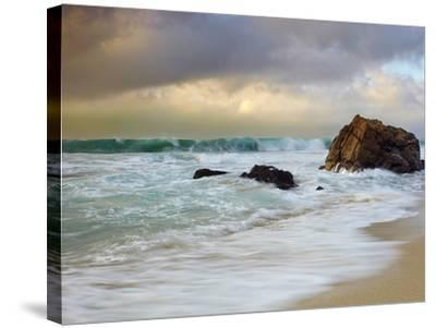 Crashing Waves, Garrapata State Park, Big Sur, California, USA-Patrick Smith-Stretched Canvas Print
