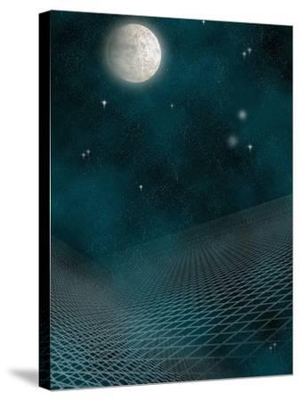 Space Background with the Moon and Stars-Carol & Mike Werner-Stretched Canvas Print