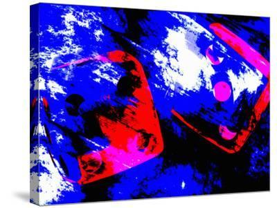 Abstract Dice Rolling Seven-Carol & Mike Werner-Stretched Canvas Print
