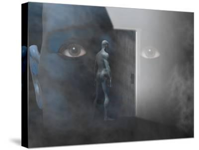 Biomedical Illustration of Self Discovery, Showing a Door Opening Within the Mind-Carol & Mike Werner-Stretched Canvas Print