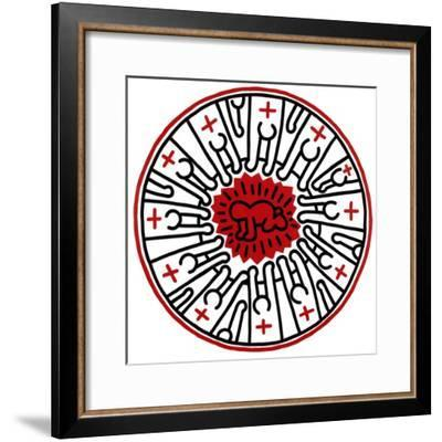 Untitled, 1985-Keith Haring-Framed Giclee Print