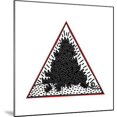 A Pile of Crowns for Jean-Michel Basquiat, 1988-Keith Haring-Mounted Giclee Print