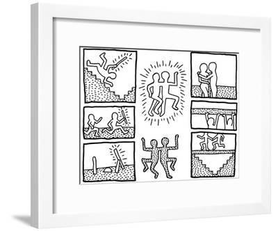 The Blueprint Drawings, 1990-Keith Haring-Framed Giclee Print