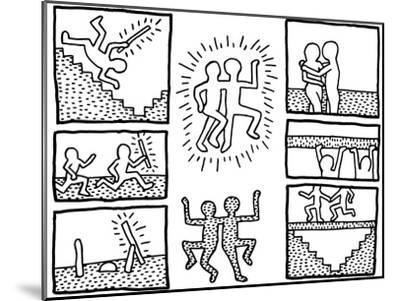 The Blueprint Drawings, 1990-Keith Haring-Mounted Giclee Print