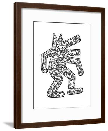 Dog, 1985-Keith Haring-Framed Giclee Print