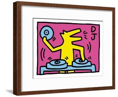 Pop Shop (DJ)-Keith Haring-Framed Giclee Print