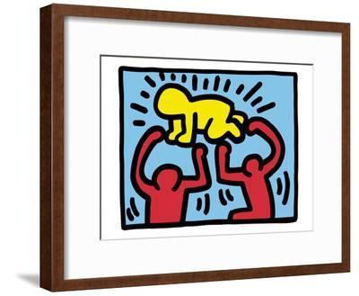 Pop Shop (Radiant Baby)-Keith Haring-Framed Art Print