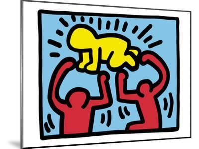 Pop Shop (Radiant Baby)-Keith Haring-Mounted Art Print