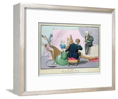 Le Mort', George IV (1762-1830), Caricature of the King Grieving the Death of the Giraffe-John Doyle-Framed Premium Giclee Print