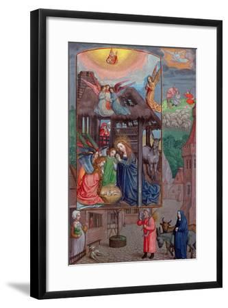 Codex Ser Nov 2844 Birth of Christ, from the Rothschild Prayer Book (Vellum)-Flemish-Framed Giclee Print