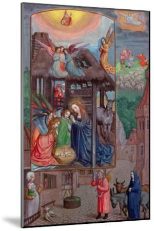 Codex Ser Nov 2844 Birth of Christ, from the Rothschild Prayer Book (Vellum)-Flemish-Mounted Giclee Print