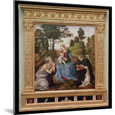 Virgin and Child with St. Jerome and St. Dominic (Oil and Tempera on Panel)-Filippino Lippi-Mounted Giclee Print