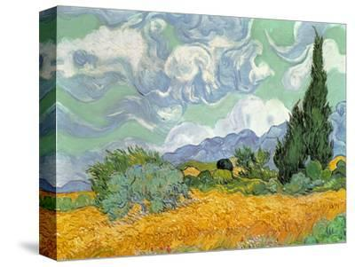 Wheatfield with Cypresses, 1889-Vincent van Gogh-Stretched Canvas Print